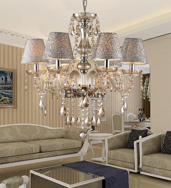 crystal ceiling lighting chandelier 6 light lamp pendant fixture clear