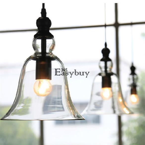 Glass Ceiling Light Modern Chandelier Pendant Kitchen Dining Room Fixture Lig