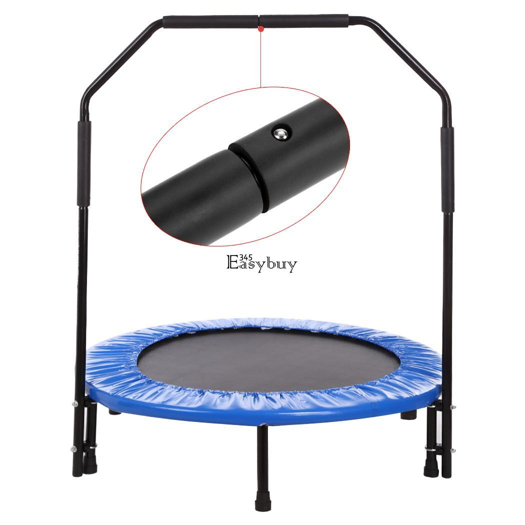 """40"""" Mini Trampoline Trainer W/ Safe Bar Exercise Workout"""