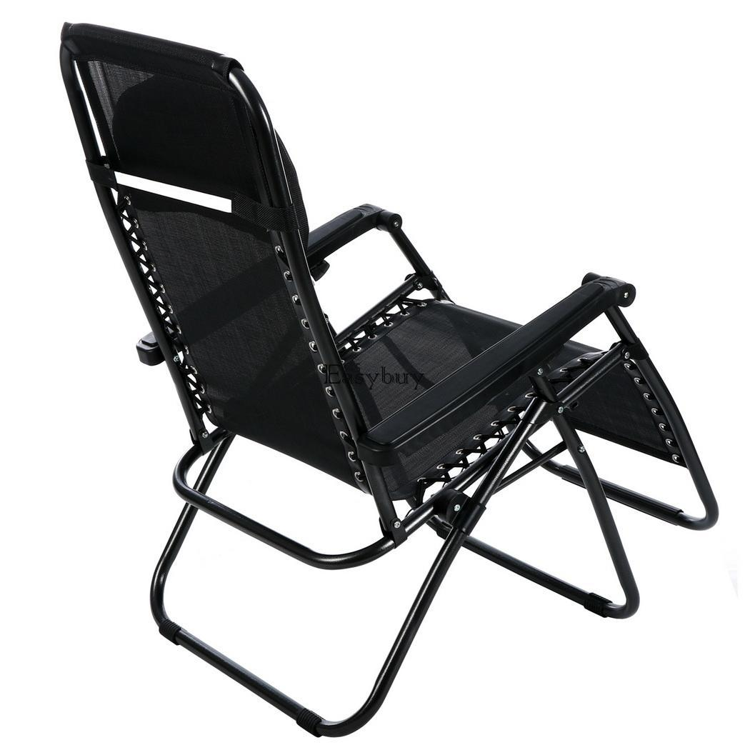 2pcs folding adjustable oversized zero gravity outdoor lounge chair yar ey6e ebay - Oversized zero gravity lounge chair ...