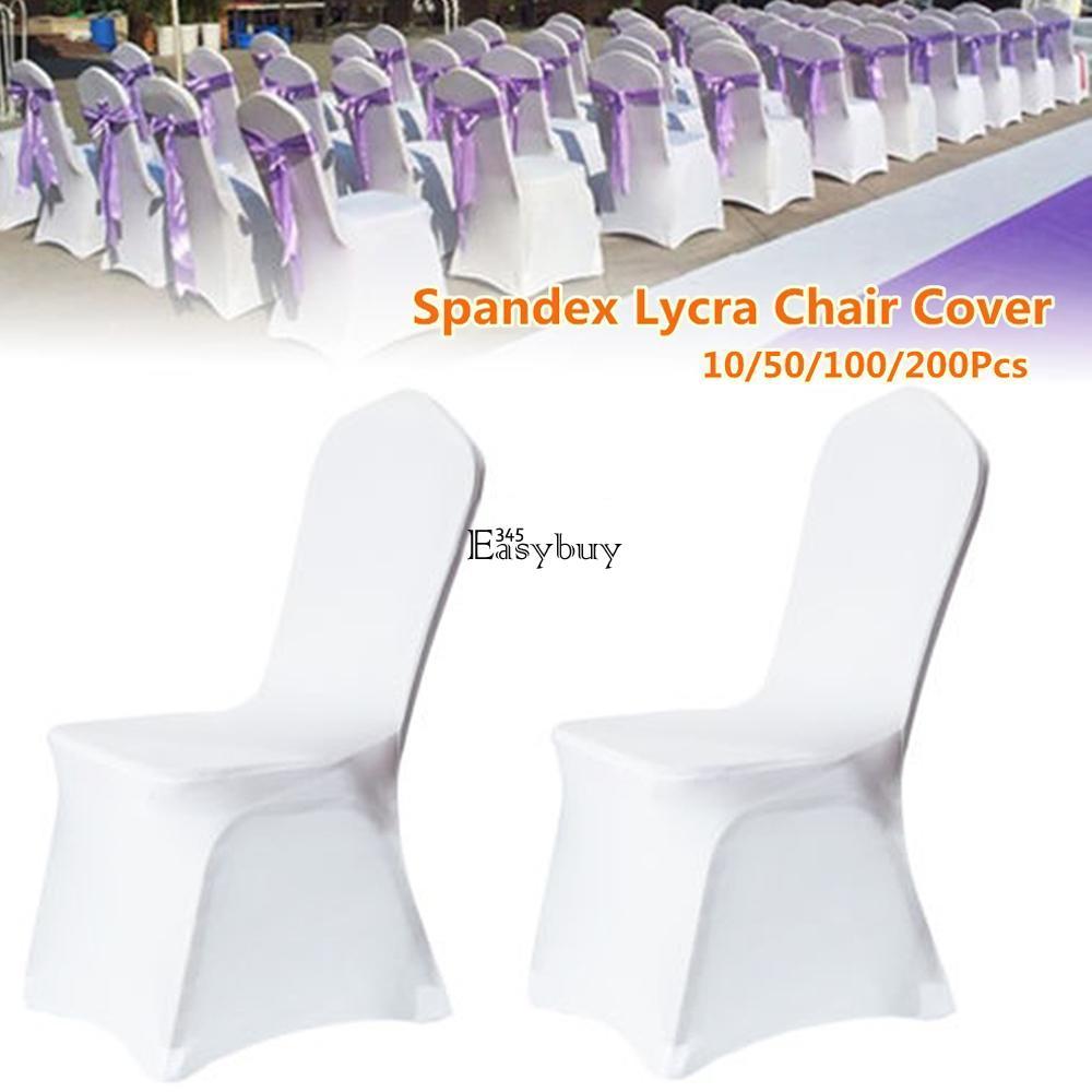 100pcs Wholesale Universal White Polyester Spandex Wedding